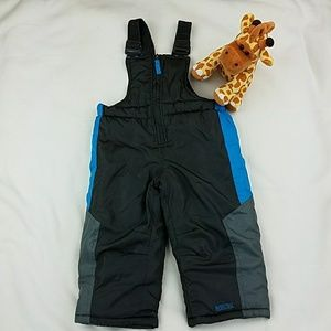 HP!💕Pacific Trail Boy snow Overalls gray and blue